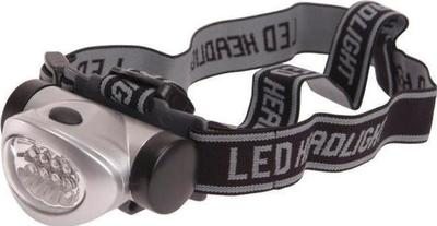 Lighthouse 8 LED Headlight 3 Function Silver flashlight