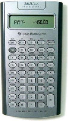 Texas Instruments TI-BAII Plus Professional calculator
