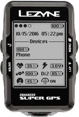 Lezyne Super GPS bicycle computer