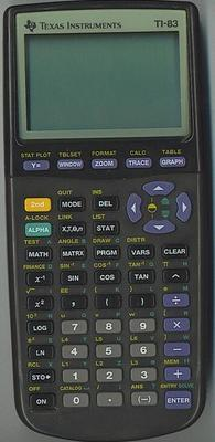 Texas Instruments TI-83 calculator