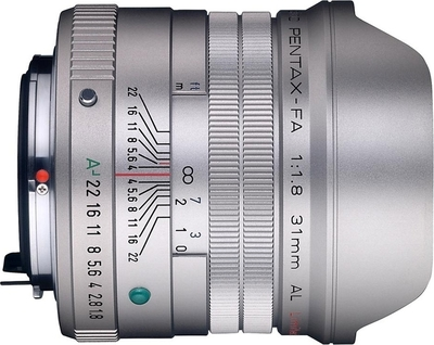 Pentax smc FA 31mm F1.8 AL Limited lens