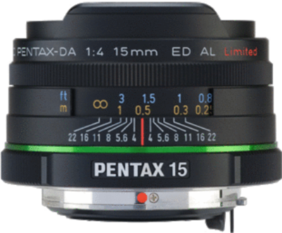 Pentax smc DA 15mm F4 ED AL Limited lens
