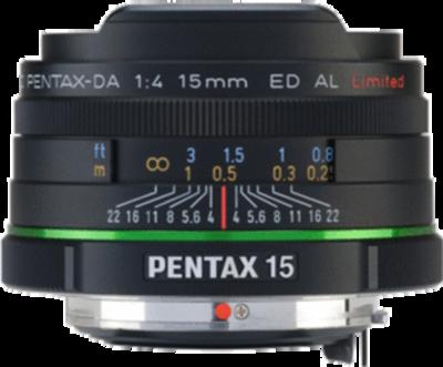 Pentax smc DA 15mm F4 ED AL Limited lens