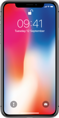 Apple iphone x front small